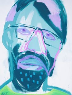 Mia Oatley: Real thing (portrait of Tim McGuire). Archibald Prize 2014. Art Gallery NSW