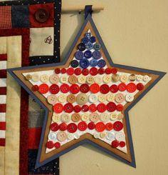 Patriotic button star