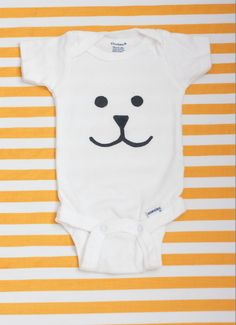Freezer Paper Stencil Onesie | 31 F**king Adorable Things To Make For Babies
