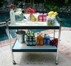 set up a beverage cart for my next get-together!