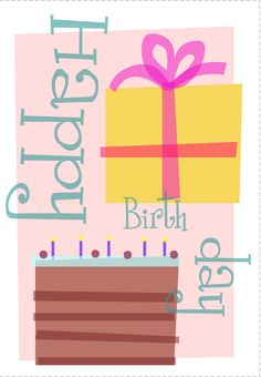 #Birthday #Card - Free #Printable Birthday Presents Greeting Card
