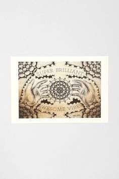 Super brilliant awesome vibes print from Nick Melody. #urbanoutfitters
