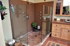House of the Week: Shower and bathroom at Mediterranean style house on Owasco Lake
