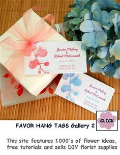 Ideas for great wedding favors, reception decorations and flower ...