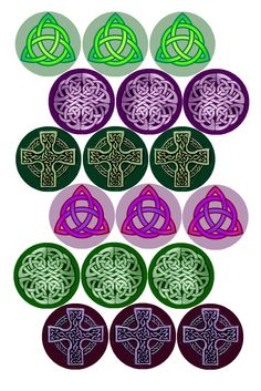"Celtic Knots #1 Bottle cap image pack Formatted for printing on 4"" x 6"" photo paper"