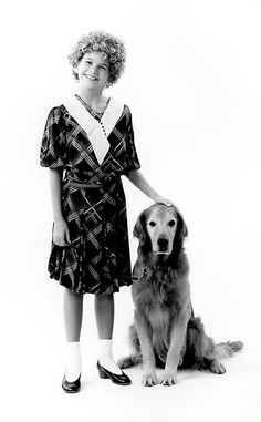 "Oh my god... Baby Sutton Foster as ""Annie"""