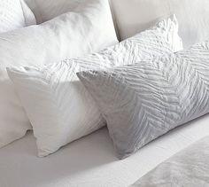 Zebra Matelasse Lumbar Pillow Cover, 14 x 36