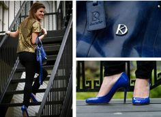 electric blue, dee keller shoes and purse - awesome!!!