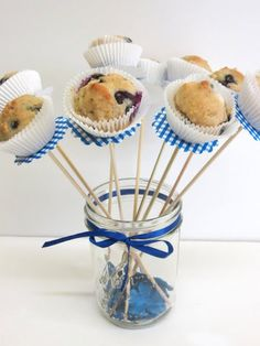 Mini Blueberry Muffin Skewers