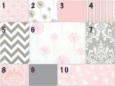 pink/grey bedding