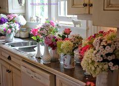 Aiken House & Gardens~ flower bouquets from the garden