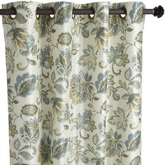 """96"""" Glencove Floral Curtain - Cool 