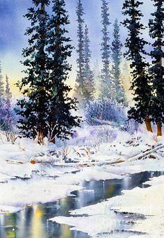 Jack Creek, The Wrangells. watercolor, 22 x 30