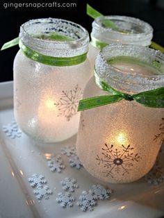 Handmade Holidays: 15 DIY Mason Jar Gifts - Luminaries and Oil candles