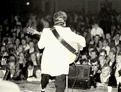 Charlie still performing to packed  arenas in England in the 1980's.