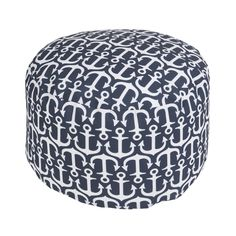 Anchor Pouf in Navy