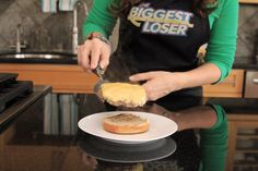 Step 6: Place the bun bottom on a serving plate. #BiggestLoser @Devin Hunt Alexander