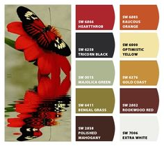 Butterfly Color Palette Inspiration Chip It! by Sherwin-Williams – ChipCard by Christy C. color palettes