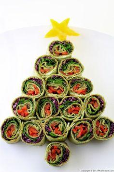 Christmas Pinwheel Appetizer