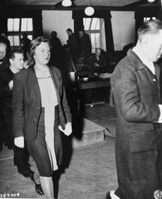 The most notorious German war criminal, of all those who were brought before the American Military Tribunals at Dachau, was unquestionably Ilse Koch, the wife of Karl Otto Koch, the infamous former Commandant of the Buchenwald concentration camp. Karl Otto Koch had already been put on trial by the Nazis themselves and executed before the war ended. Ilse Koch was among the 31 accused war criminals from Buchenwald who were brought before an American Military Tribunal at Dachau on April 11, 1947.
