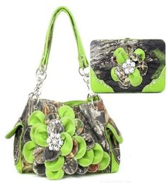 handbags, camouflag flower, flower rhineston, green camouflag, match wallet