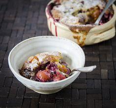 plums cobbler