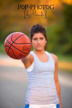 Basketball Senior Picture Ideas | Senior Basketball Photo Shoot