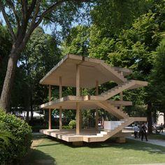 Le Corbusier's Maison Dom-Ino realised at Venice Architecture Biennale. deck