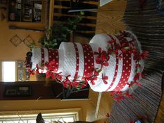 """another towel """"cake"""" for wedding shower"""