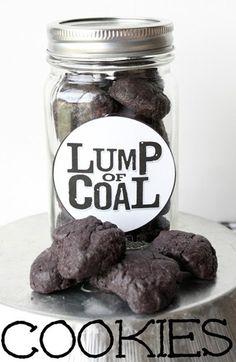 Lump of Coal Cookies at Make Bake Celebrate