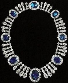 Joséphine's Sapphire and Diamond Necklace Repined by Joanna MaGrath