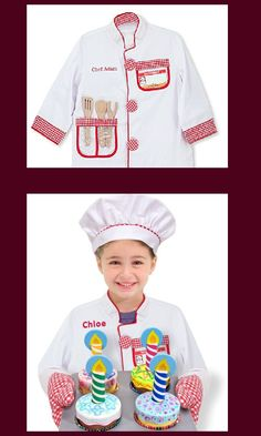 *Limited Time* Free Personalization on Chef Costume