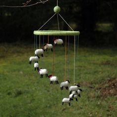 Sheep Mobile...and I would like this for myself.