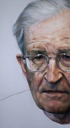 Noam Chomsky by Raoul Martinez breaking up, bp portrait, portrait award, inspir, noam chomski, paint, portraits, raoul martinez