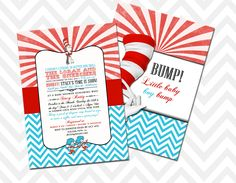 Dr. Seuss Themed Baby Shower Invitation!
