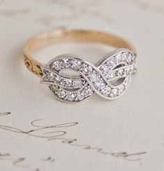 Bow Ring with Diamonds