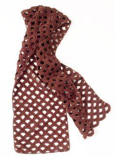 Copper Glow Scarf free crochet pattern