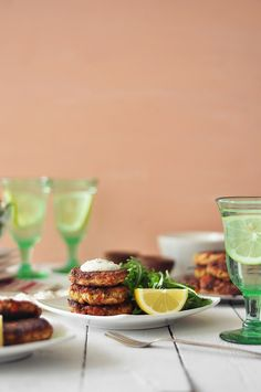 Salmon Cakes with Creamy Dill Sauce