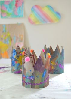 make these beautiful crowns from paper bags