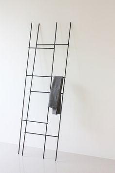Yenwen Tseng; Enameled Metal 'Ladder' Coat Rack, 2012.