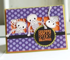 Skeleton Friends Card by Betsy Veldman for Papertrey Ink (August 2012)