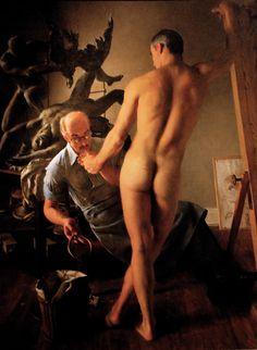 John Koch, The Sculptor, 1964.  Oil on canvas.  Brooklyn Museum of Art