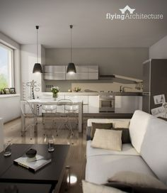Living-dining room by flyingArchitecture