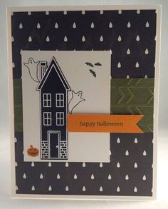 Holiday home stampin up Halloween card by Gloria lKremer 2014