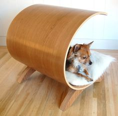 Small Dog Pod  cherry dog bed by vurvdesign on Etsy, $599.00