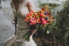 coral charm peony bouquet, photo by Red White and Green Photography http://ruffledblog.com/magnolia-plantation-wedding #weddingbouquet #flowers