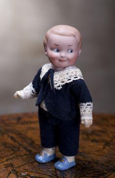 """All original bisque 7"""" (18cm) Armand Marseille Googly Doll Antique dolls at Respectfulbear.com"""