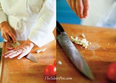 tips for cutting garlic: http://www.thesilverpen.com/2013/05/17/fridays-fixins-scrumptious-simple-salmon/