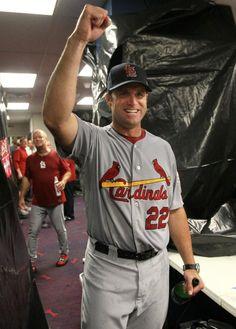 Mike Matheny celebrates the Wild Card