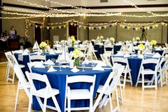Nautical wedding - cultural hall decor. The Duplains: The Wedding Day - In Real, Quality Photos